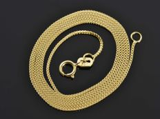 18k Gold Necklace. Chain - 50 cm. Weight 2.12 g