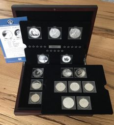World – the 15 world famous silver coins 'Fabulous 15' 2011 – 15 x 1oz silver