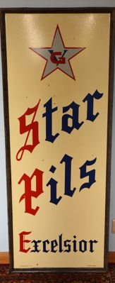 Email advertising sign Excelsior brewery Geraardsbergen 1959