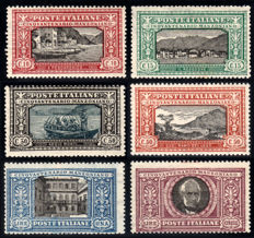 Kingdom of Italy 1923 – Manzoni, complete series of 6 stamps – Sass.  No. 151-156