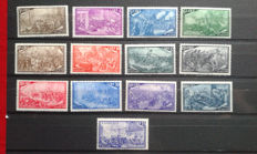 Republic of Italy, 1948, 100th anniversary of the Risorgimento era Sassone catalogue no. 580-591 and express mail, no. 32