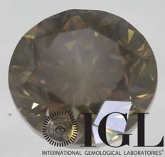 Cert 1.00 Carat Fancy Brown VS2