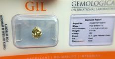 Diamond - 1.03 ct - Pear - Natural Fancy Light Yellowish Green - VS2 - No Reserve Price