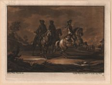 Christian Rugendas (1708–1781) - Three horseriders - Around 1740