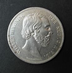 The Netherlands – 2.5 Guilder 1851, Willem III – silver