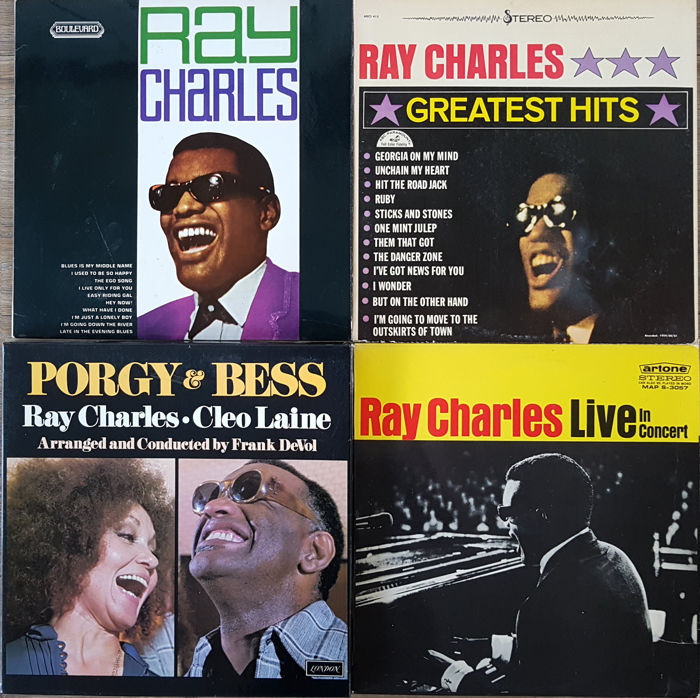 4 Very rare Ray Charles albums: Porgy & Bess (box, with Cleo Laine