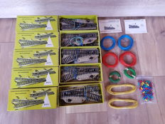 Märklin H0 - 5117 and others - 10 x electric points for M-rail + 8 rolls of wiring and an amount of plugs