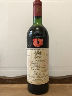 1972 Chateau Mouton Rothschild, Pauillac 2eme Grand Cru Classé - 1 Bottle