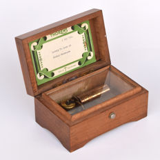 Original Swiss Music Box, Spieluhr from Thorens, two melodies