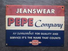 Enamel advertising sign PEPE Company - 2nd half of 20th century