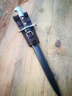 Swiss bayonet M1918 for Schmidt Rubin - Elsener Schwyz with sheath and leather frog