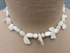 Near East - beaded necklace with stone beads - early Bronze age/Neolithic - 35 cm + 2 cm
