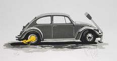 The Beetle with the Yellow Earing. Limited silkscreen by Karel Lijbrink from 1988