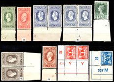 The Netherlands 1913/1976 - Collection of image and etching numbers between NVPH 90 and 1113
