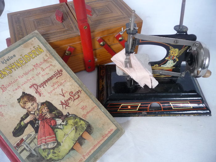 Casige Germany And Others Small Old Sewing Machine With Old Adorable Sewing Kit For Sewing Machine