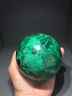 Malachite Sphere from Congo - 10 cm - 1155 gm