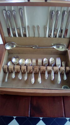 Sterling Silver flatware, 59 pieces, Royal Crest