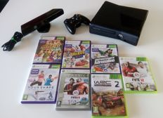 Nintendo Xbox360 S - kinect - 7 games in box - 1 game without box