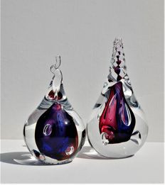 Ozzaro Glass – Crystals – 2 objects 'Drop'
