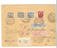 Italy, RSI 1944 – Registered mail with emergency franking from Merano to Stettin (Germany)