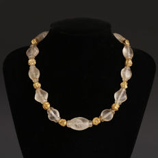 Crystal and gold necklace mm 475