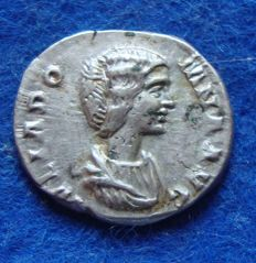 Roman Empire - Silver Denarius of Empress Julia Domna, wife of Septimius (170 - 217 A.D.) reverse side VENUS (p627)