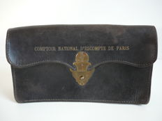 Document holder comptoir national d'escompte de Paris 19th century