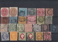 Germany states 1860/1918 - Selection on cards
