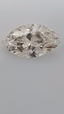 1.08 ct - Marquise - White - F / SI2