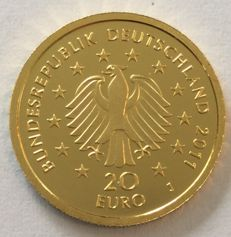 Germany - €20 2011 'German forest beech' - 1/8 gold