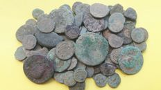 Roman Empire -- Lot of 130 Roman AE coins, various emperors
