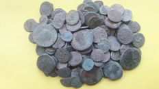 Roman Empire – Lot of 140 Roman AE coins, various emperors