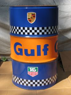 Gulf original oil barrel