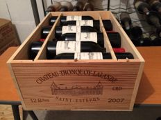 2007 Château Tronquoy-Lalande, Saint-Estèphe AOC (Bordeaux left bank) - 12 bottles - neighboor of Château Montrose !