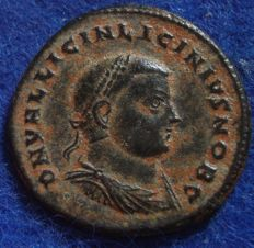 Roman Empire - Follis of Licinini II (317-324 AD) slaughtered at Nicomedia (P635)