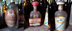 3 1950s/60s Bottles - Eristow Wodka & Red Hills Blended Scotch Whisky & Red Hills London Dry Gin