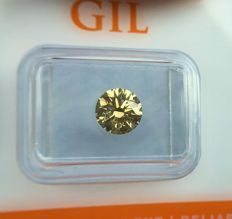 Diamond - 1.27 ct - Natural Fancy Grayish Yellow  VS2 - No Reserve Price