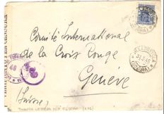 "Italy, RSI – ""Monuments"" 1.25 Lire, only stamp used on envelope from Domodossola to Geneva"