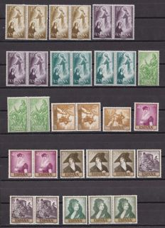 Spain 1957/1961 – Set of complete series in stock book.