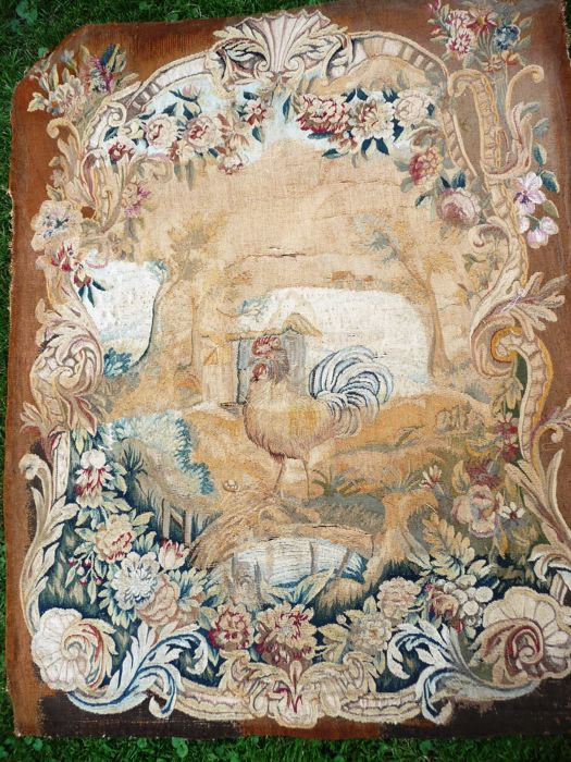 A Tapisserie D Aubusson Upholstery Panel With A Scene After The