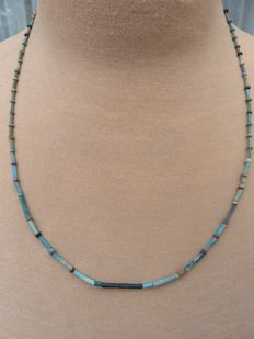 Egyptian necklace with faience beads - 59 cm.