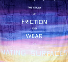 Edward Ruscha - The study of friction and wear on mating surfaces