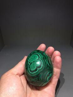 Malachite Egg from Congo - 7 x 6 cm - 472 gm
