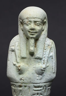 Egyptian faience Ushabti for the priest of Smentet Padiusir - 136 mm