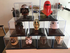 9 x different Star Wars helmets