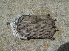 Solid silver handmade purse