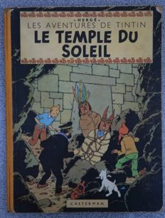 Tintin 14 - Le Temple du Soleil - hc - first edition (1949)