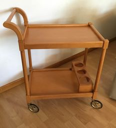 Auxiliary table- Service trolley - Cherry wood