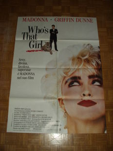 Lot of 5 original italian movie poster (musical) - first press  - 100x140cm - Madonna, Sting ....