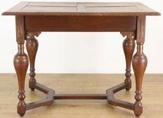 Oak table in Renaissance style - the Netherlands - circa 1890